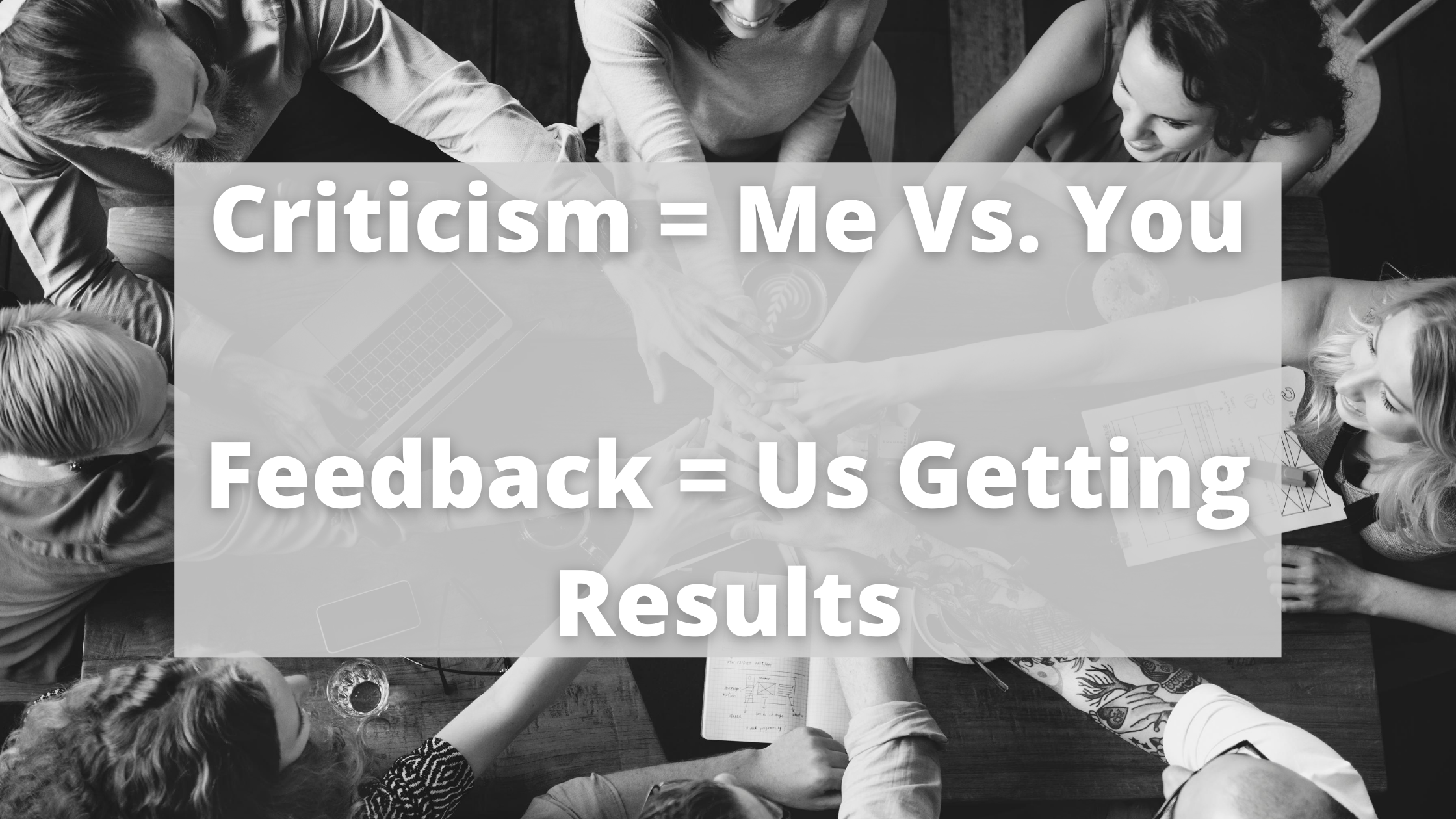 image criticism vs feedback graphic